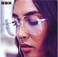 Cool 2017 New Irregular Glasses Hip Hop Fashion Brand Designer Sunglasses Men Women Transparent Sun glasses Oversized Eyeglasses