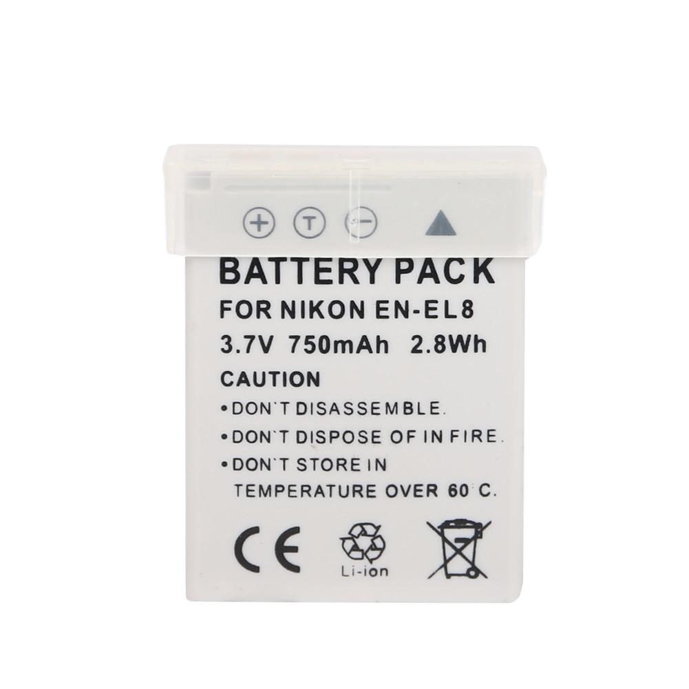 Ооз Оригинал 980 mAh EN-EL8 EN EL8 ENEL8 цифровой Камера Батарея для NIKON CoolPix P1 P2 S1 S2 S3 S5 S50 S51 S52 PM087
