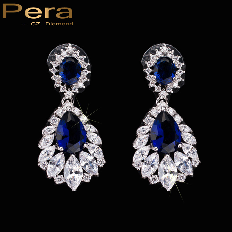 Aliexpress Com Buy Pera Trendy Long Royal Blue Big Drop