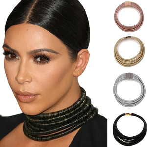 5 colors new disign fashion Kim Kardashian necklace collar necklace & pendant choker statement necklace maxi jewelry choker