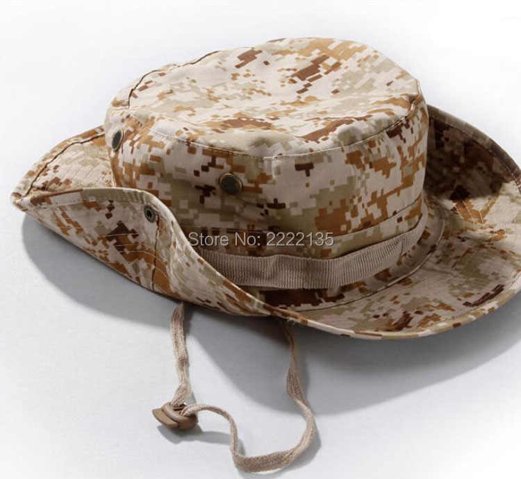 Тактический страйкбол камуфляж снайпера Boonie шляпы армейский Кадет Военный Кепка летний Кемпинг Пешие прогулки мужская круглая непальская рыболовная шляпа