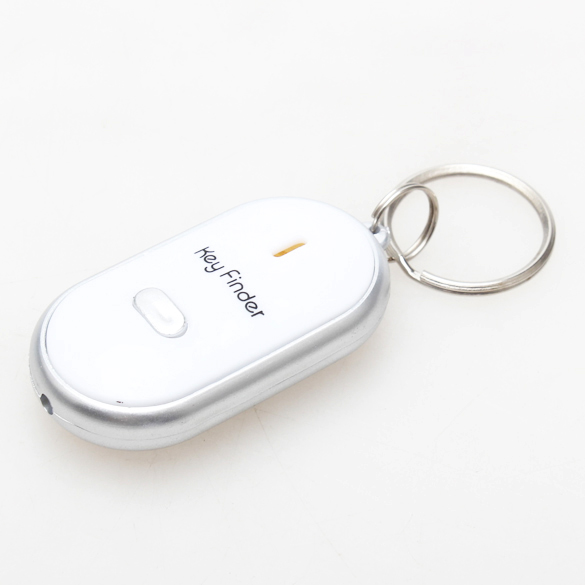 A Ausuky New Wireless Anti lost Alarm Child Bag Wallet Key Finder With LED Light White