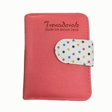 8fb08b80c21f2 Hot Selling cukierki kolory torebka Polka Dots Leather Zipper portfel wielu  posiadacz karty portfel dla dziewczyny
