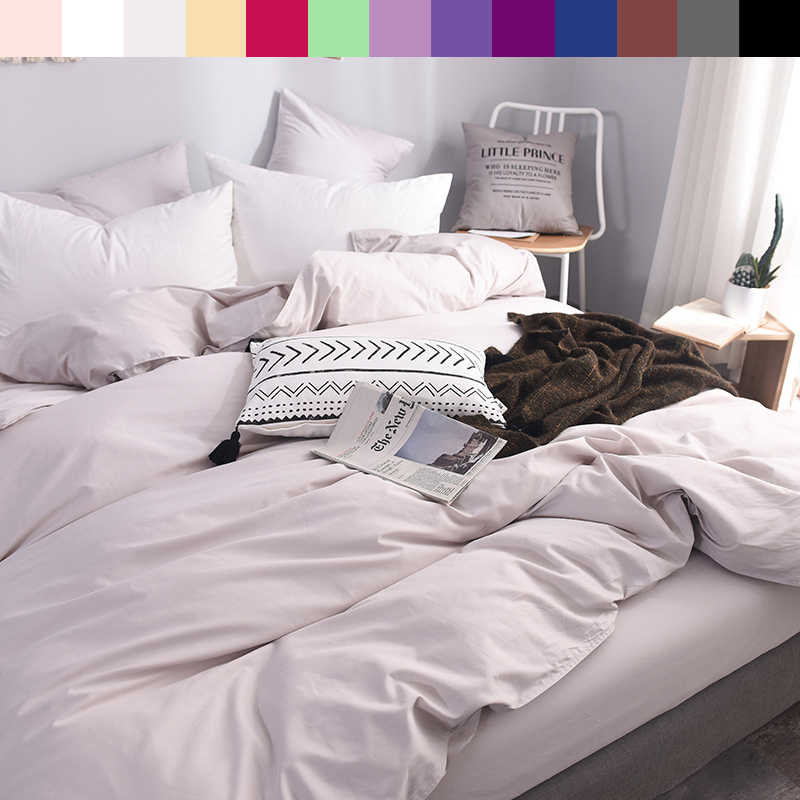 5aed0a97b98 600TC Pure Cotton Luxury Duvet Cover 140x200 Custom Size Bedding King Queen  Solid Color Printed Duvet