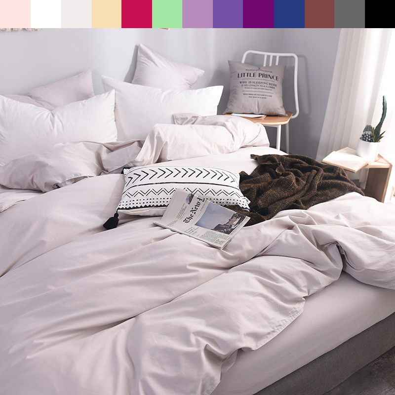 600TC Pure Cotton Luxury Duvet Cover 140x200 Custom Size Bedding King Queen Solid Color Printed Duvet Quilt Cover Light Gray