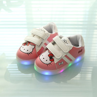 2017 New Patch LED Fashion Baby Shoes Hot Sales Cartoon Boys Girls Shoes Glowing Toddlers Hot