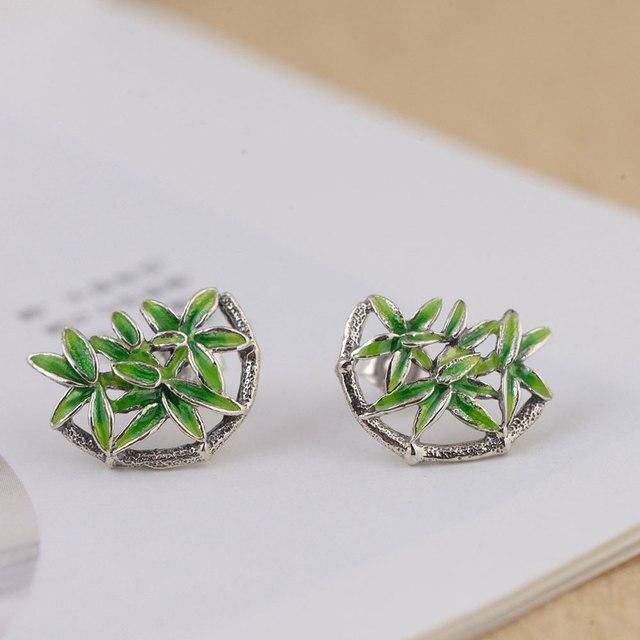 Fnj 925 Silver Bamboo Earrings For Women Jewelry Fashion Shanlan Boucle D Oreille 100
