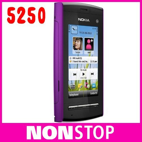 Original Nokia 5250 GSM FM MP3 2MP Unlocked cellphone Mobile Phone