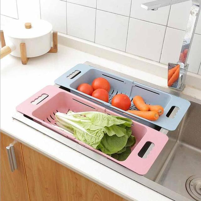 Aliexpress buy fruit vegetable washing draining storage basket fruit vegetable washing draining storage basket kitchen sink holder plate dishes bowl display stand holder organizer sisterspd