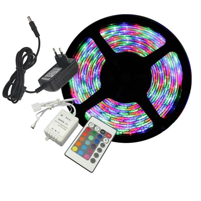 5M / lot 3528 Vodotěsné RGB LED Flexibilní pásové světlo 300LED - LED Osvětlení