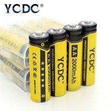 YCDC 12 sztuk AA akumulatory 1.2 V NI-MH 2000mAh dla LED latarka elektroniczna zabawka Bateria 1.2 v NIMH AA skrzynka na akumulator