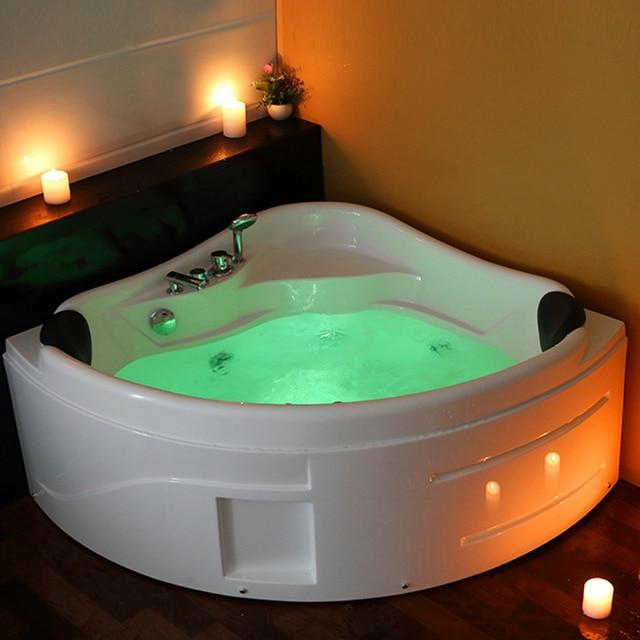 1300mm Whirlpool Spa Massage Wall Corner Bathtub