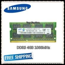 Samsung DDR3 4GB 1066MHz  Laptop memory PC3-8500S notebook RAM 8500 4G SODIMM