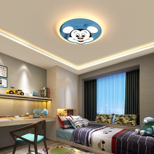 Cute Disney Cartoon Animal Blue Mouse Kids Ceiling Lamp For Girls Nursery Child Baby Boys Childrens Room Light Led