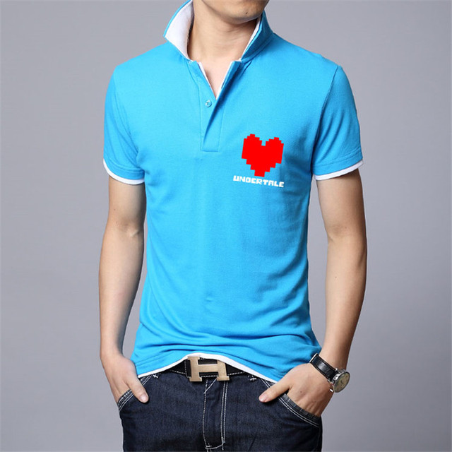 Game Undertale Polo Short Sleeve Undertale sans and papyrus Polo Top Tees Teens Shirt skulll brother anime cothes