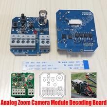 Модуль камеры с зумом декодирования доска BNC RS485 OSD меню управление Лер PCB кнопка управления 9Pin ленточный кабель Аналоговый блок декодирование камеры
