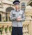 De seguridad uniforme camisa ropa china ropa camisa gris ropa de guardia de seguridad de seguridad de guardia de seguridad