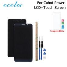 Ocolor para cubot power display lcd e tela de toque digitador assembléia substituição com ferramentas + adesivo para cubot power telefone