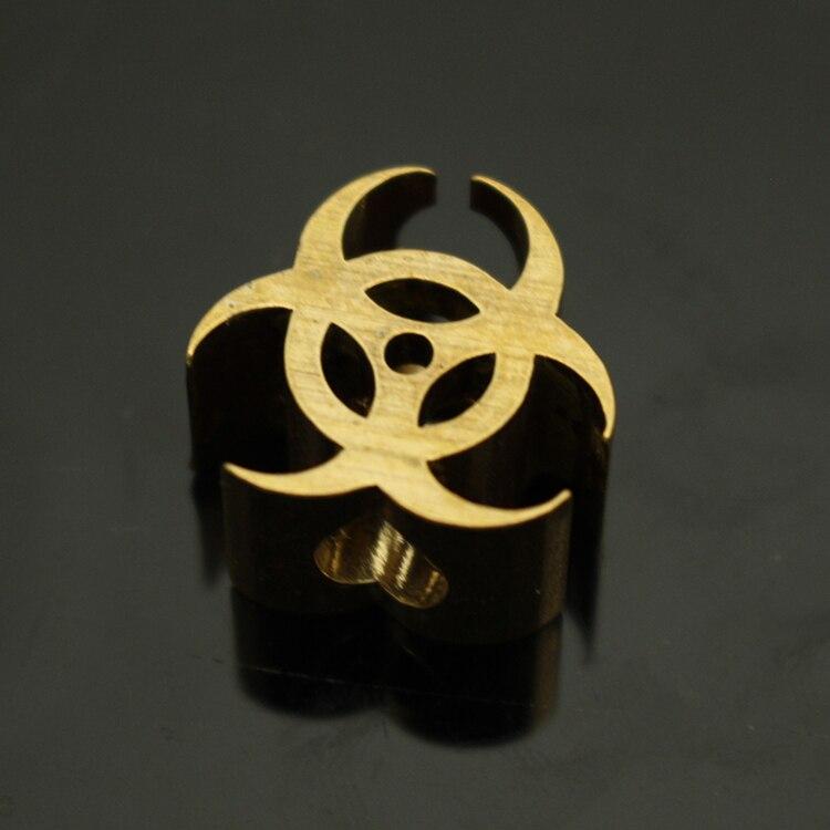 1PC Brass Knife Beads Lanyard Pendant Paracord Survival Bracelet Umbrella Rope Cord DIY Decorative Accessories Pendant EDC Tool