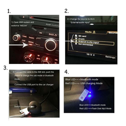 MASO AMI MDI Mini Bluetooth Audio Input Adapters 4.0 USB Music Interface MP3 AUX Cable Adapter for Car Audi VW