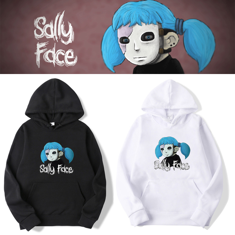 Game Sally Face Hoodie Cosplay Costume Plus Velvet Sweatshirt Spring/autumn Women Men Halloween Gifts