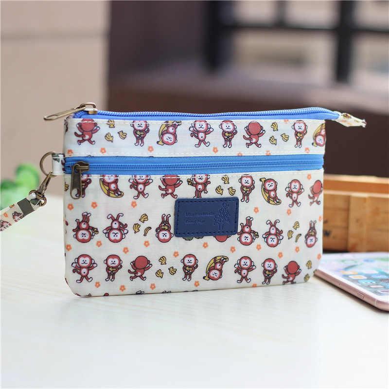 Algodão animais à prova d' água mulheres coin bolsas crianças carteiras sacos de dinheiro telefone mini bolsas bolsas carteiras feminina bolsos para meninas