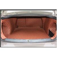 pu leather car trunk mat cargo mat 5d cargo liner for volkswagen passat b7 2011 2012 2013 2014 2015