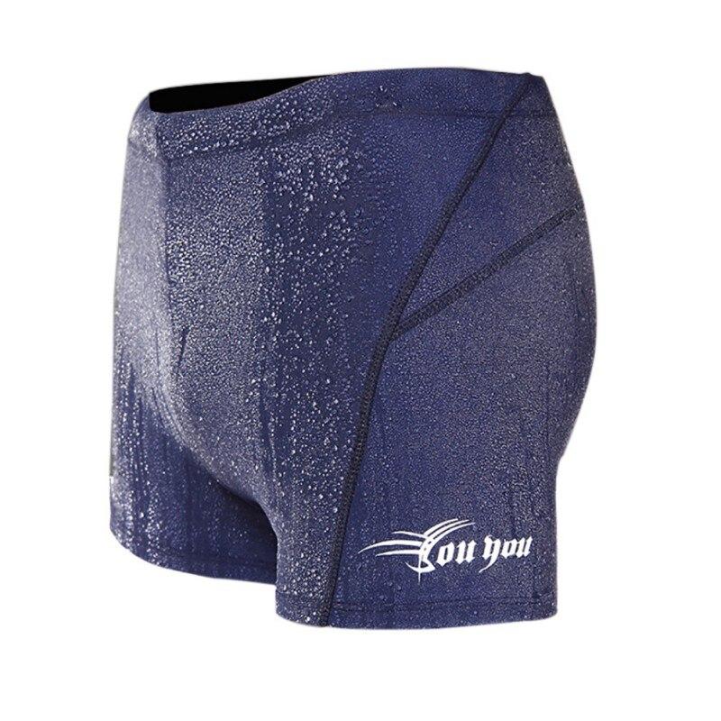 Men Boxer Waterproof Quick Dry Men Short Hot Spring Trunks Blue Black Color