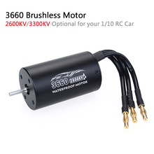 цена на Waterproof RC Car 1/10 Parts 3660 2600KV 3300KV Brushless Motor for Tamiya Traxxas Slash Bandit Redcat 1/10 RC Truck Monster