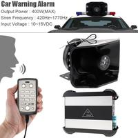 12V 300-400W Durable Univesal 9 Tone Loud Car Warning Alarm Police Siren Horn Speaker with MIC System