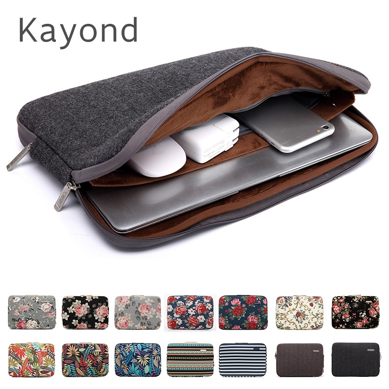 2018 New Brand Kayond Sleeve Case For Laptop 11,12,13,14,15,15.6 inch,Bag For MacBook Air Pro 13.3,15.4 Free Drop Shipping fast free shipping laptop backpacks 13 14 15 15 6 inch free gift keyboard cover for macbook pro 13 3 15 4 black laptop bag case