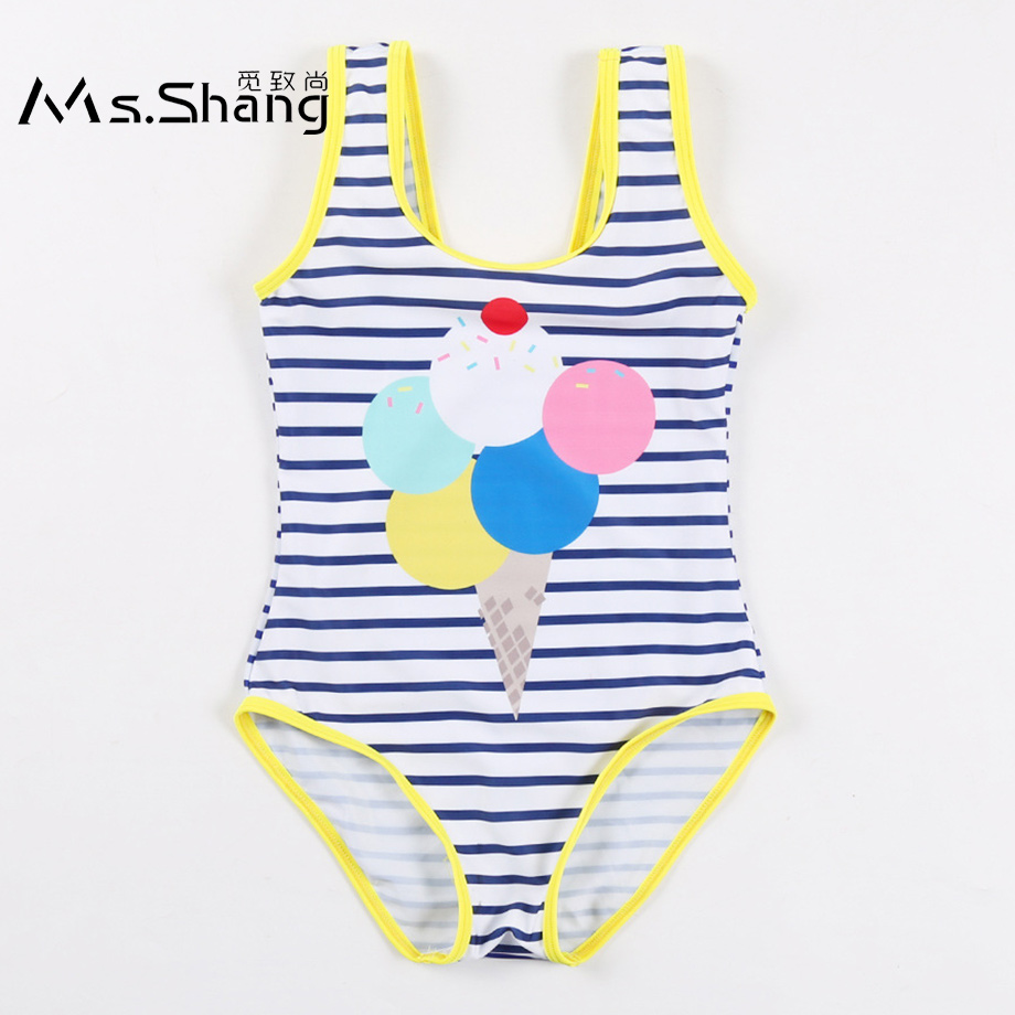 Led String Yatfiml 2018 New Summer Striped Printed Kids Shorts Suits 2pcs Baby Swimming Clothes Set Childrens Swimwear Girls Swimsuit Led Lighting