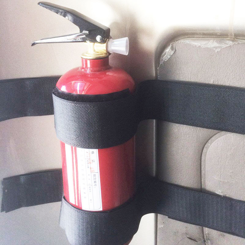 1set Car Fire Extinguisher Fixed Belt Car Used Special Fixed Belt Trunk Fire Extinguisher Strap Self Adhesive Klittenband Beneficial To The Sperm