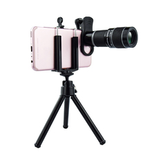 Universal 18X Telephoto Lens for Mobile Phones HD Telescope Head with Tripot & Clip for Cell Phones