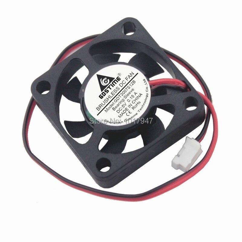 2pieces Lot Gdstime 2Pin 5v DC 3007 30mm 3CM 30x30 X7mm 5V Cooler Cooling Fan