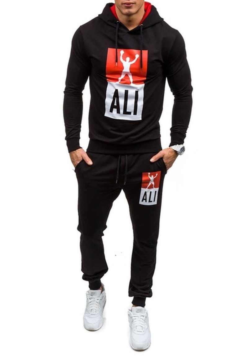 955cfb9f384 ... ZOGAA спортивные костюмы модный спортивный костюм для мужчин  Trainingspak Survete для мужчин t Мужская спортивная одежда ...