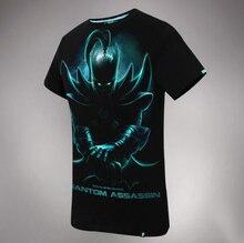 Cool Design DOTA 2 Phantom Assassin T-shirts 100% Cotton Black xxxl Tees