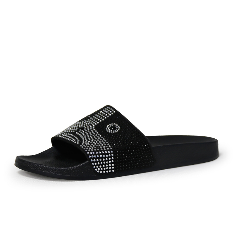 967629b9f Yu Kube 2018 Women Slippers Summer Open T Casual Slip On Flip Flops  Rhinestone Animals Dogs Slide Platform Woman Beach Shoes