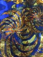 (5 yards/lot) NYSL7325-1, Fashion design Africano rayon tessuto per il vestito stampe rayon tessuto di seta burnout tessuto Spedizione gratuita