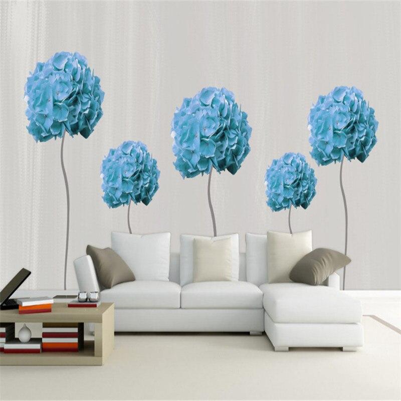 Blue Wallpaper 3d Effect Wallpaper Free Desktop Backgrounds 3d Photos Hd Flower Wall Mural Sitting Room Decor Kitchen Wall Art