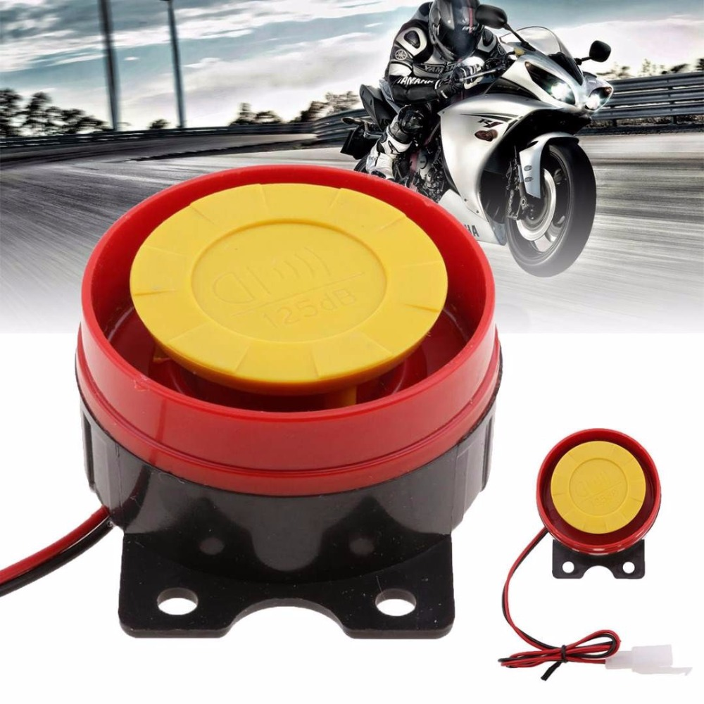 Loud car horn 12V Car Truck Horn Simple Design Motorcycle Electric Driven Air Raid Siren Alarm Safety Horn accessories 1p(China)