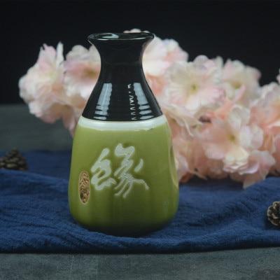 Японский ликер горшок Ретро керамика теплые емкость для ликера дистрибьютор бытовой маленькие белые вина флакон китайский barware Сакура - Цвет: 4