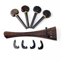 BATESMUSIC Cello Tailpiece Aluminum Alloy Tailpiece with Adjustable Tailgut for 3/4 4/4 Cello accessories rose wood