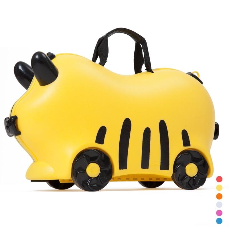Children luggage kid suitcase locker handbag boy girl baby Toy box luggage Pull rod box Can