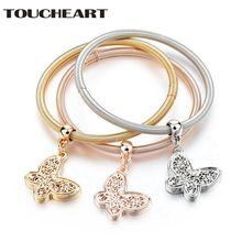 Toucheart модные золотые бабочки очаровательные браслеты и браслет