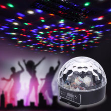 Dj Laser Disco Ball Stage Light Led Rgb Crystal Magic Ball Effect Light Dmx 512 Laser Projector Disco Fireworks Strobe Par Light(China)