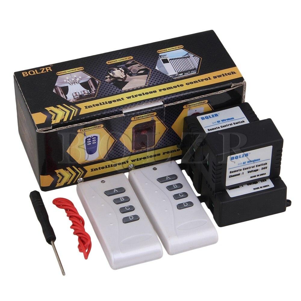 ФОТО BQLZR 1CH 433MHz Inching/Self-lock 2 ABCD-Key Remote Control Swtich 4 Receiver 24V