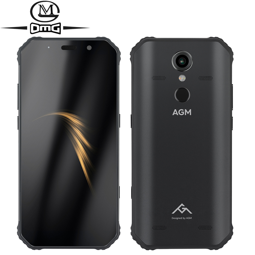 "AGM A9 IP68 Waterproof shockproof mobile phone Android 8.1 5.99"" 4GB+32GB Qualcomm SDM450 Octa Core 5400mAh NFC 4G Smartphone"