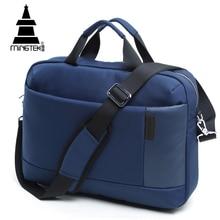 14 15.6 Inch Laptop Bag Sleeve Case Business Notebook Tote Briefcase Bag Waterproof Nylon Portable Shoulder Messenger Bag Unisex