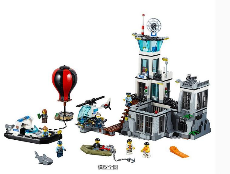 New Model building kits compatible with lego City Series Prison island 815pcs 3D blocks Educational toys hobbies for children model building blocks architecture creator series the louvre paris compatible with lego city hobbies for children toys new